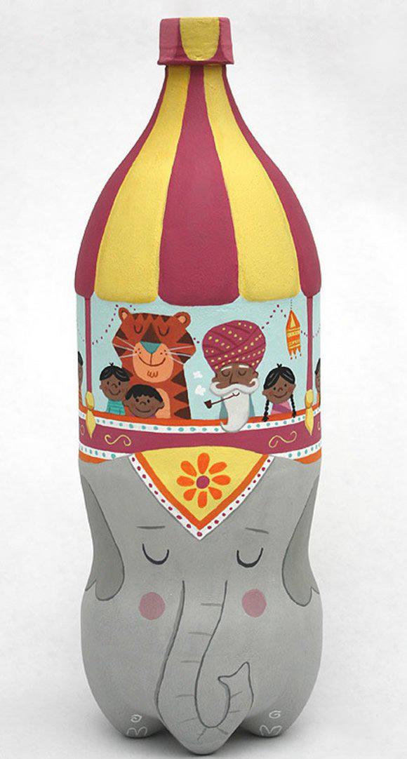 卡通瓶子手绘图片 小小创意让瓶子变废为宝